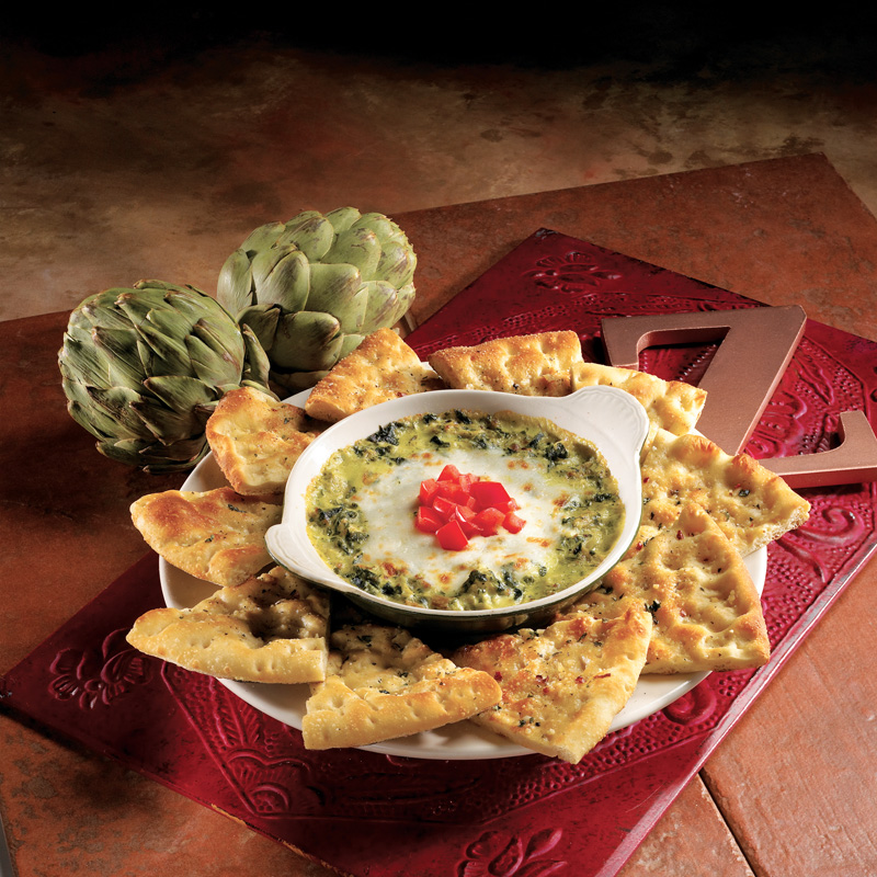 baked spinach and artichoke dip - Zios Italian Kitchen